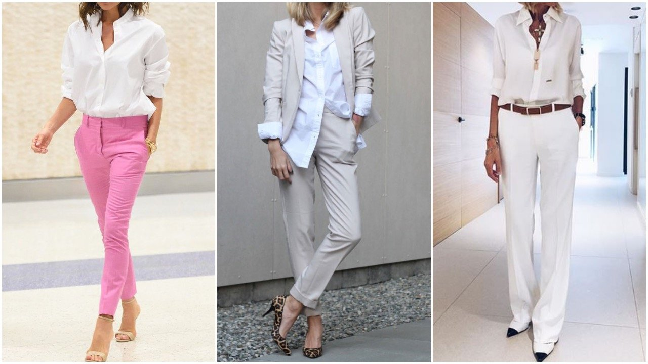white shirts styled for work